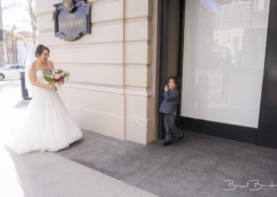 wedding first look with kids creative brant bender photography