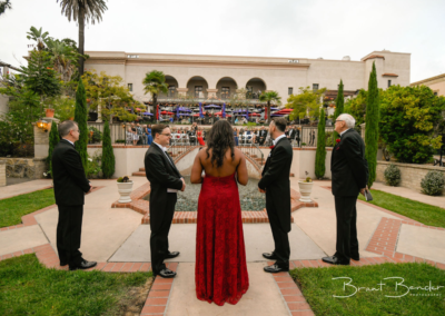 prado at balboa park wedding altar