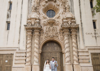 balboa park wedding photography bride and groom